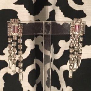 Vintage Glam💕 Screw Earrings Rhinestone Party Wed